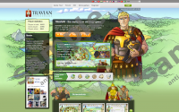 Travian Browser Game pop-up