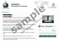 Interpol Departament of Cybercrime Virus