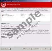 Microsoft Security Essentials Alert Virus
