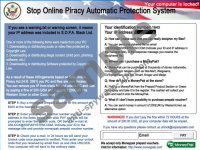 SOPA Piracy Charges Virus