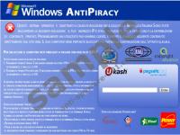 Windows Antipiracy Virus