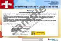 Federal Department of Justice and Police Virus