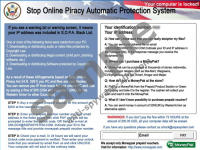 Stop Online Piracy MoneyPak Virus