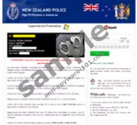 New Zealand Police Virus