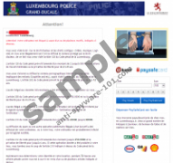 Luxembourg Police Grand-Ducale Virus