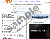 Live TV toolbar