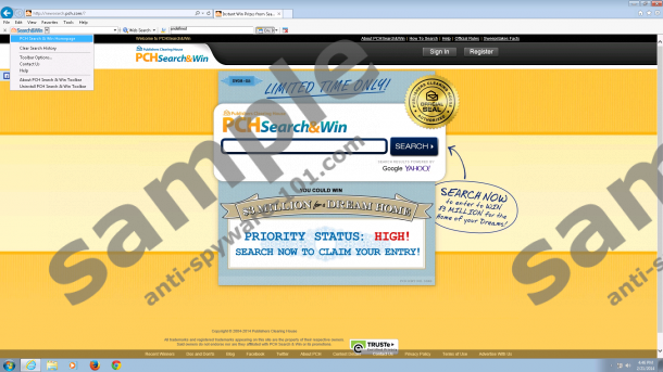 PCH Search And Win Toolbar