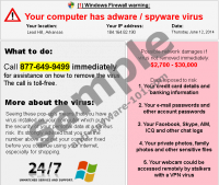 Your computer has adware / spyware virus