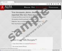 Alpha Ransomware