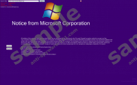 'Notice From Microsoft Corporation' Ransomware